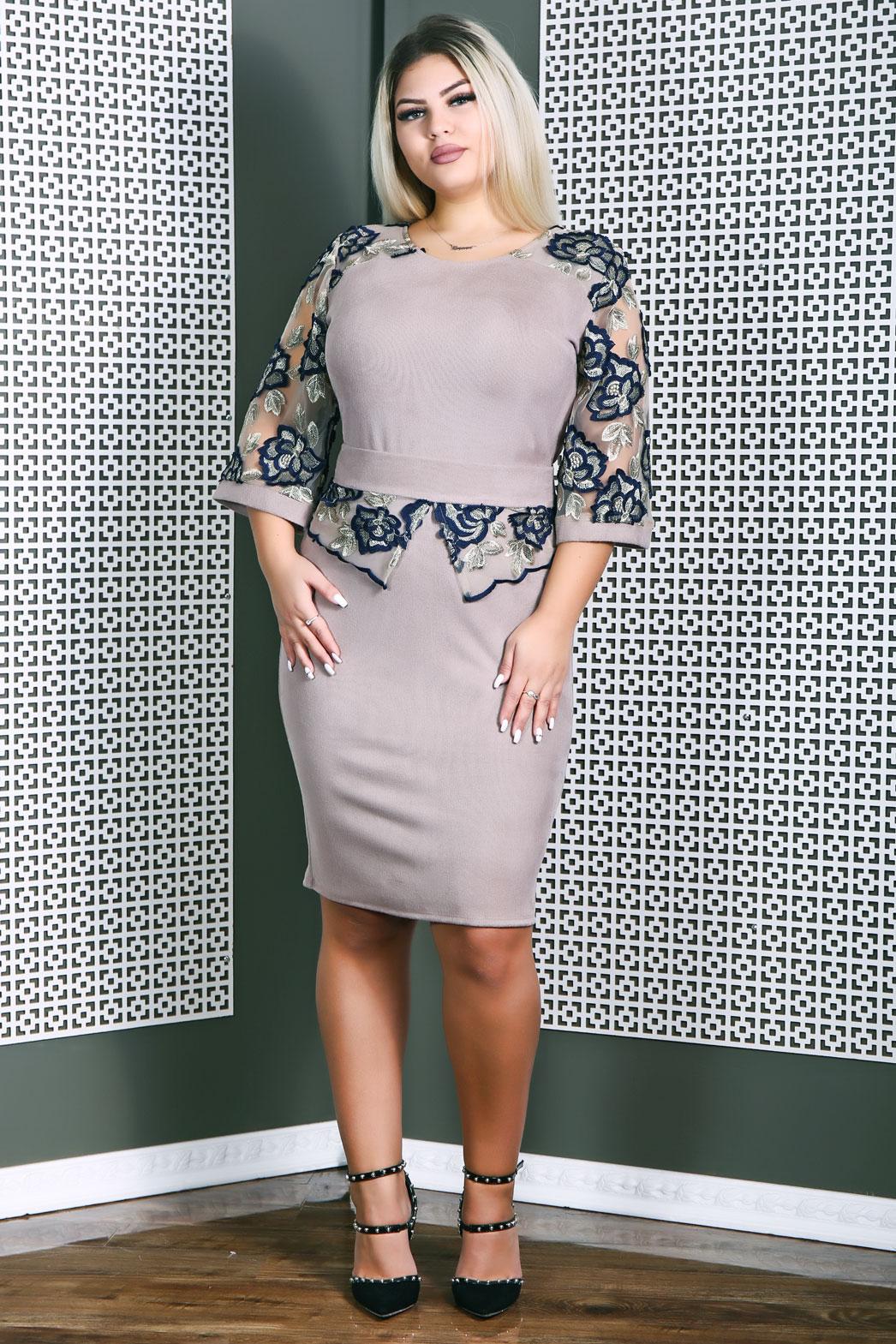 Rochie eleganta Ingrid Crem