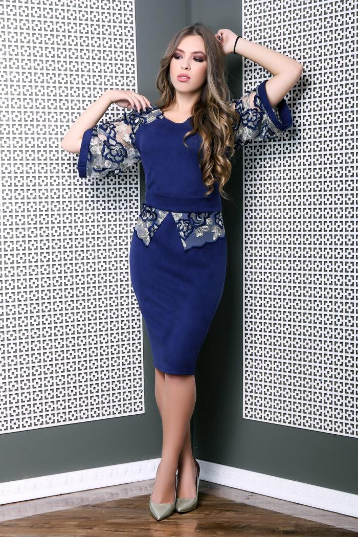 Rochie culoare albastru
