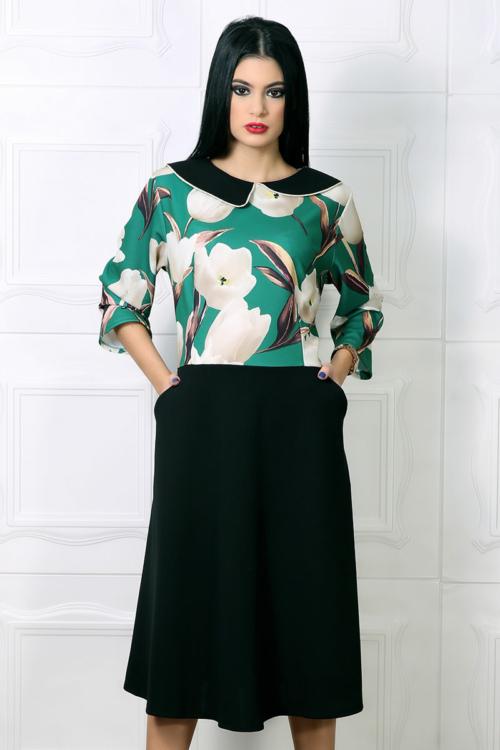 Rochie Sarina Floral Verde