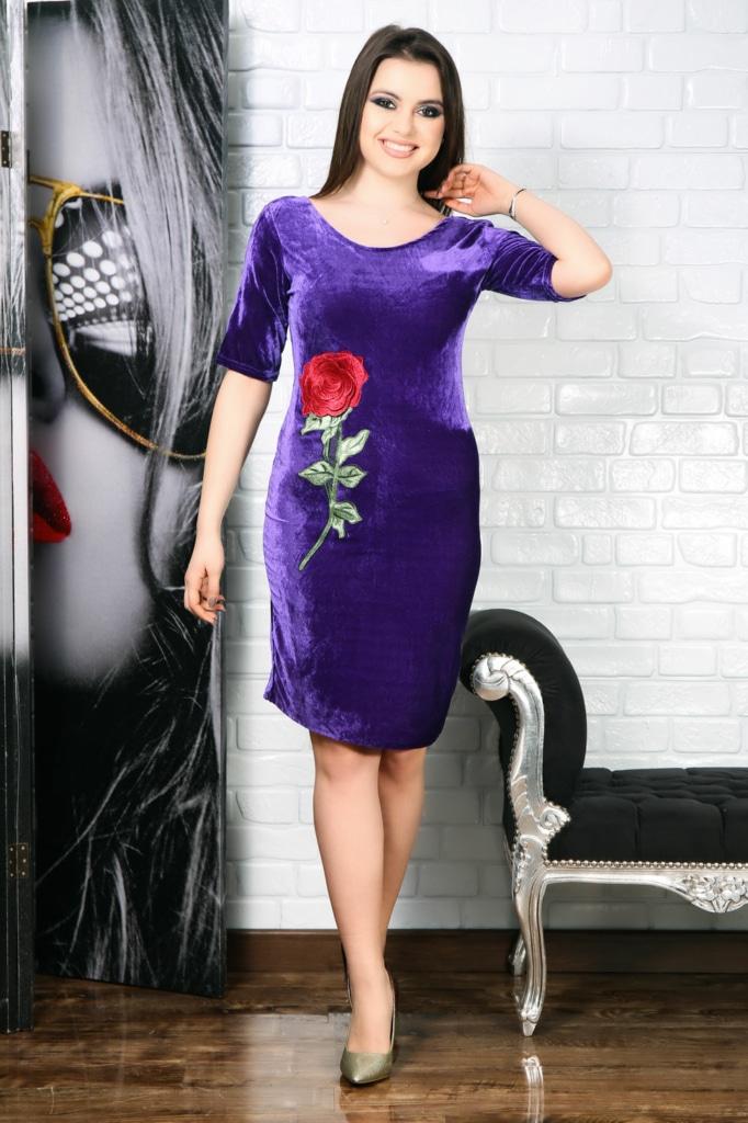 Rochie de catifea Mistic Floral
