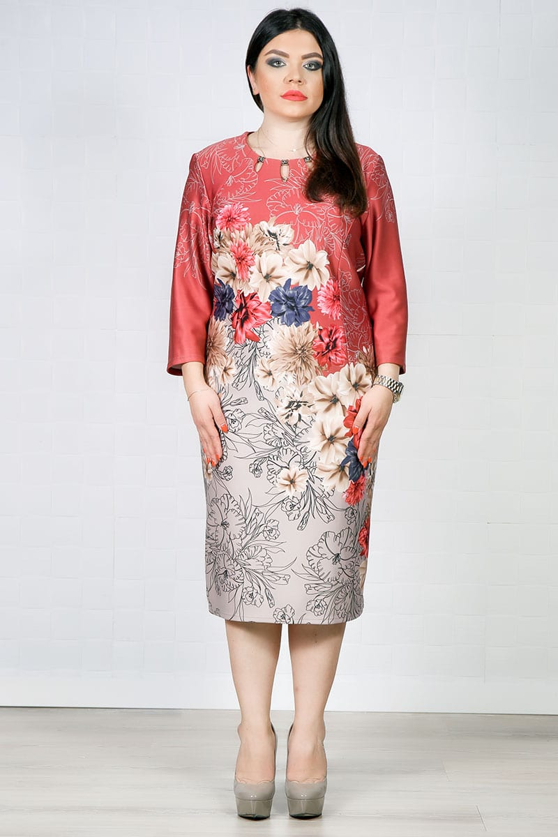 Rochie Eleganta Mona Floral Roze