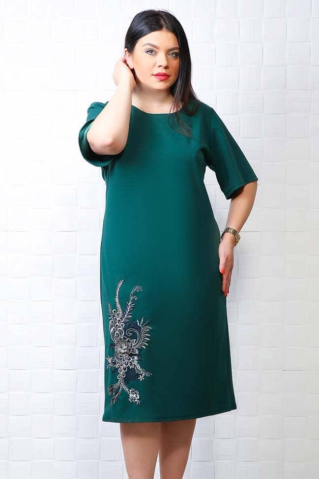 Rochie de ocazie Zaya verde brad