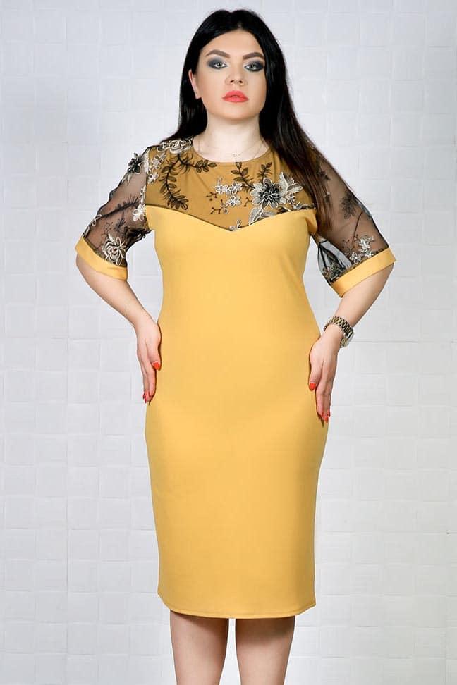Rochie de ocazie Sindi Mustar