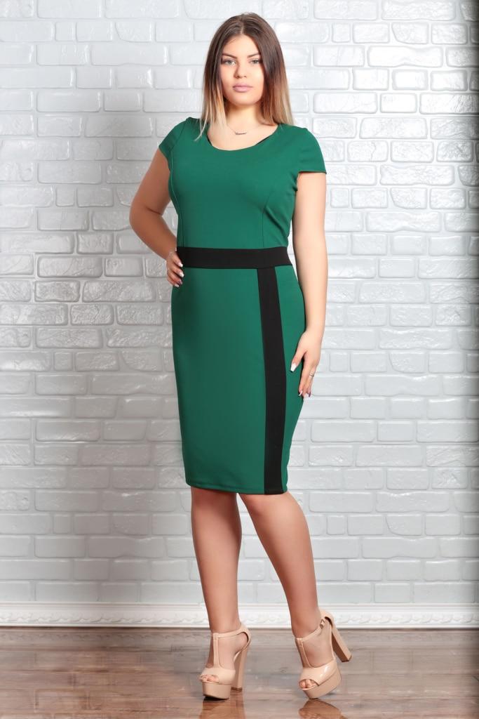 Rochie Marime Mare Narcisa Verde