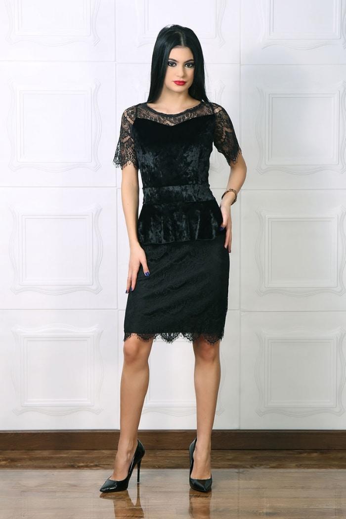 Rochie Catifea Sore Negru
