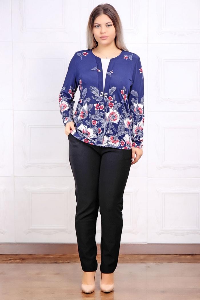 Set Doua Piese Pantalon si Bluza Floral
