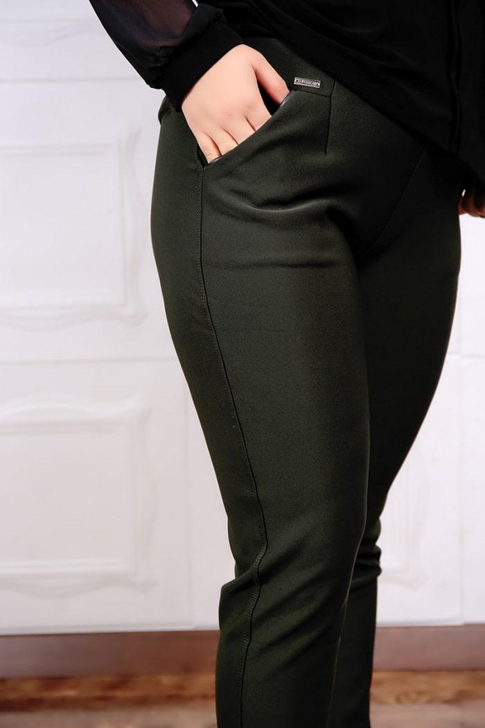 Set Doua Piese Pantalon si Bluzan Olive